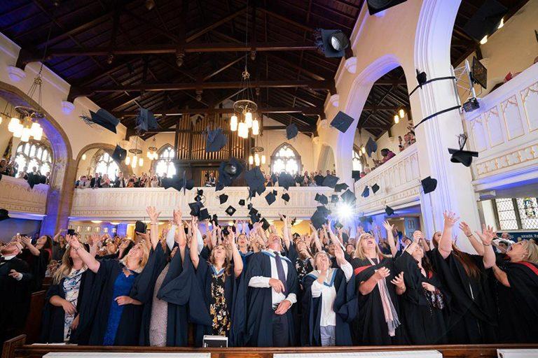 Weston College graduation